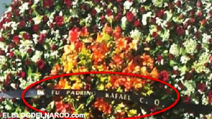 Caro Quintero envío Corona de Rosas al 'Azulito' hijo de Juan José Esparragoza Moreno 'El Azul'
