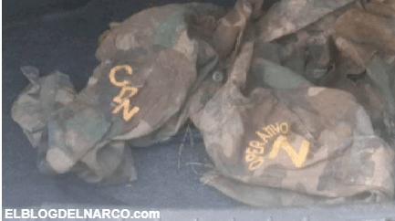 FOTOS Tras enfrentamiento, Soldados aseguraron camioneta y equipo del CDN, sus 'Sicarios' corrieron como siempre