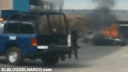 Policías abaten a cinco sicarios y queman varias casas, una del Marro entre ellas