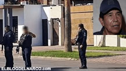 Sicarios balean casas de Caro Quintero en Caborca Sonora e intentan derribar portón con un coche