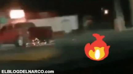 Sicarios graban topón entre el Cártel del Noreste y el C.D.G en Miguel Alemán, Tamaulipas (VIDEO)