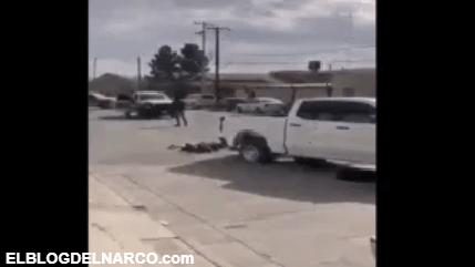 Video de la balacera donde sicarios ejecutan a tres policías y una mujer