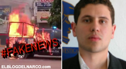 """La """"fake news"""" de La captura del hijo del """"Chapo"""", ataques a patrullas y un helicóptero de la Marina"""