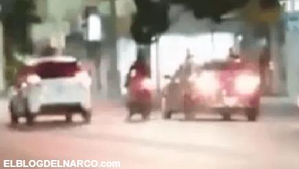 Persecución y balacera, Sicarios atacan a policías en la cuna del Chapo Guzmán (VIDEO)