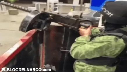 Sicarios del Mayo Zambada se muestran cargando gasolina a troca monstruo (VIDEO)