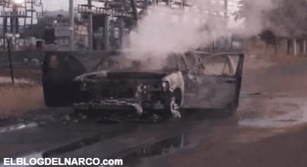 Camionetas calcinadas y cientos de casquillos deja enfrentamiento de mas de 3 horas entre Sicarios