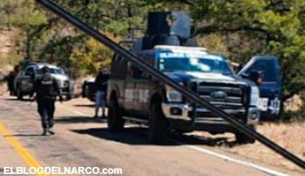 Emboscada en Chihuahua, sicarios atacaron a policías y ejecutados a 4 agentes