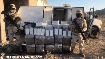 Golpe al Narco no Coronaron, SEDENA decomisan un poco más de 256 millones de pesos en droga