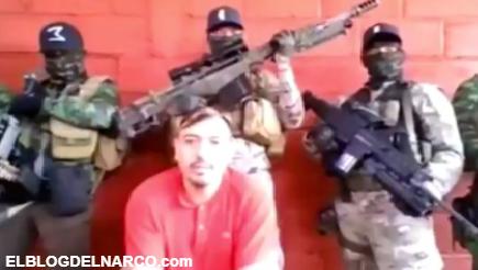 """VIDEO Perturbador interrogatorio del CJNG al """"Cholo"""", confesó crímenes e involucró a García Harfuch"""