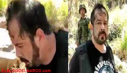 """Video de la detención e interrogaron de el """"M3"""", jefe de plaza del CJNG en Guayabitos"""