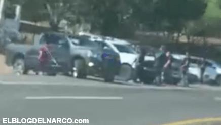 Videos de los intenso enfrentamiento entre Sicarios y Elementos Federales en Nayarit
