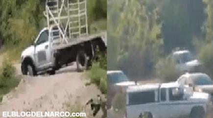 VIDEO Cárteles Unidos débiles con miedo al CJNG bloquean caminos en Michoacán