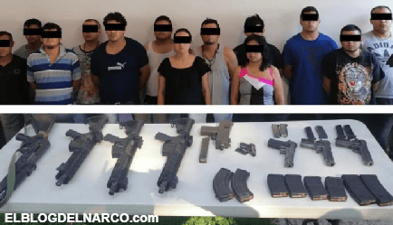 Detienen a 13 Sicarios del CJNG tras enfrentamiento con Estatales en Veracruz