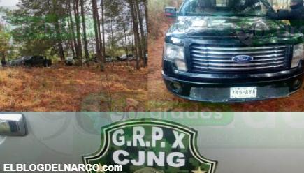 """FOTOS Decomisan convoy del """"Grupo X"""" del CJNG en Zinapécuaro, Michoacán"""