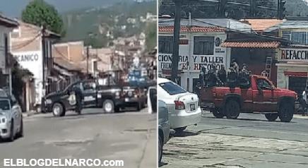 ¡Ya estamos aquí!... Cien sicarios de 'Cárteles Unidos' irrumpen en Michoacán (VIDEO)
