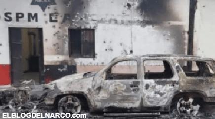 """Grupo armado destruyó las instalaciones de la comisaría de Carichí tras la detención del """"H7″"""