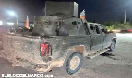 Policías GOPES decomisan 4 vehículos con blindaje artesanal del Cártel del Golfo