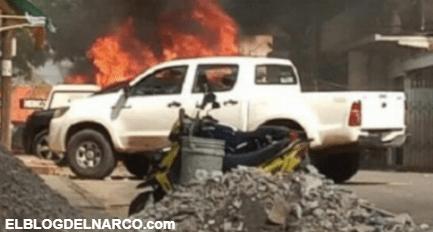 Jornada violenta en Veracruz, 4 muertos, patrullas quemadas, fiscalía baleada y narcobloqueos