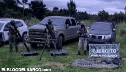 Blindadas, armas y equipo táctico del CJNG asegura el Ejercito en Mazamitla, Jalisco