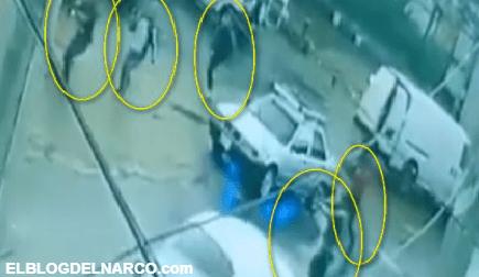 Comando armado intenta levantar a conductor pero este los burla y se va (Video)