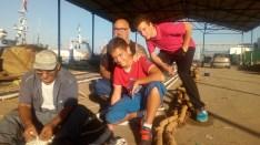 Junto al maestro redero en Isla Cristina Huelva