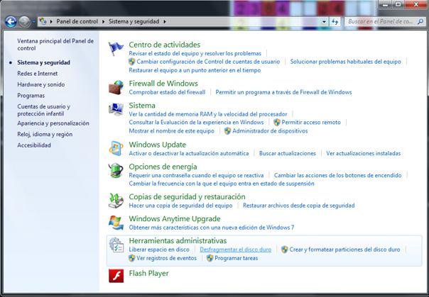 Desfragmentación del disco duro en Windows 7 (3/5)