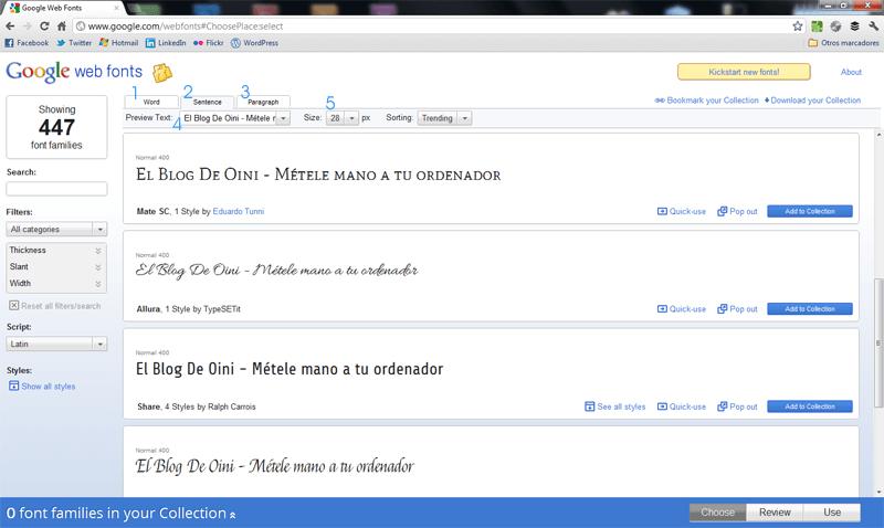 Cómo descargar fuentes gratis de Google Web Fonts (2/6)