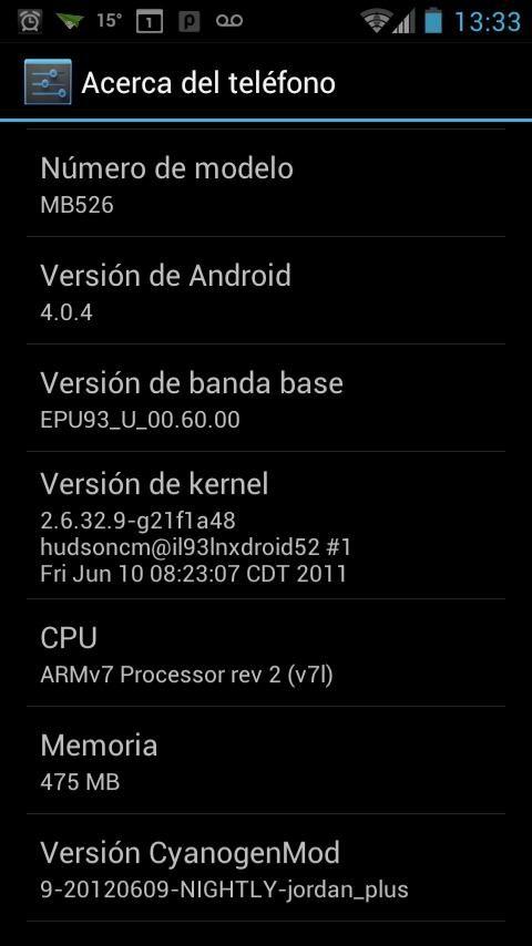 Android 4 para Motorola Defy – Icecream Sandwich (Reloaded) (2/3)