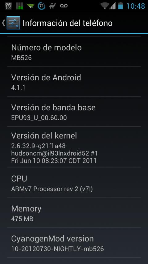 Android 4.1 Jelly Bean para Motorola Defy