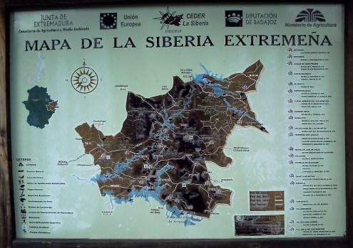 CARTEL MAPA DE LA SIBERIA y su Reserva Nacional de Cíjara - copia
