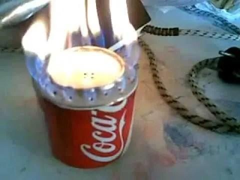 Cmo hacer un hornillo o fogn con 2 latas de CocaCola