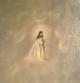 Detalle del óleo de Nuestra Señora del Mar