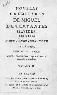 "Novelas ejemplares, 1783 Iturria: ""Kixoteren irudi-bankua www.qbi2005.com"""
