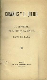 """Justo Lararen (seud.) El hombre, el libro y la época. 1905 Iturria: """"Kixoteren irudi-bankua www.qbi2005.com"""""""