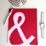 8x10 Hand-lettered Ampersand Print