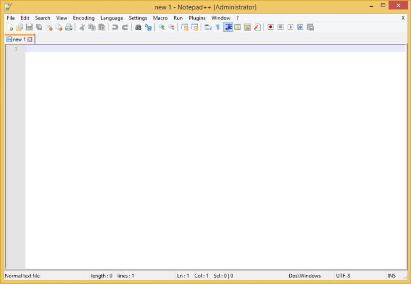 Notepad++ Blank Document