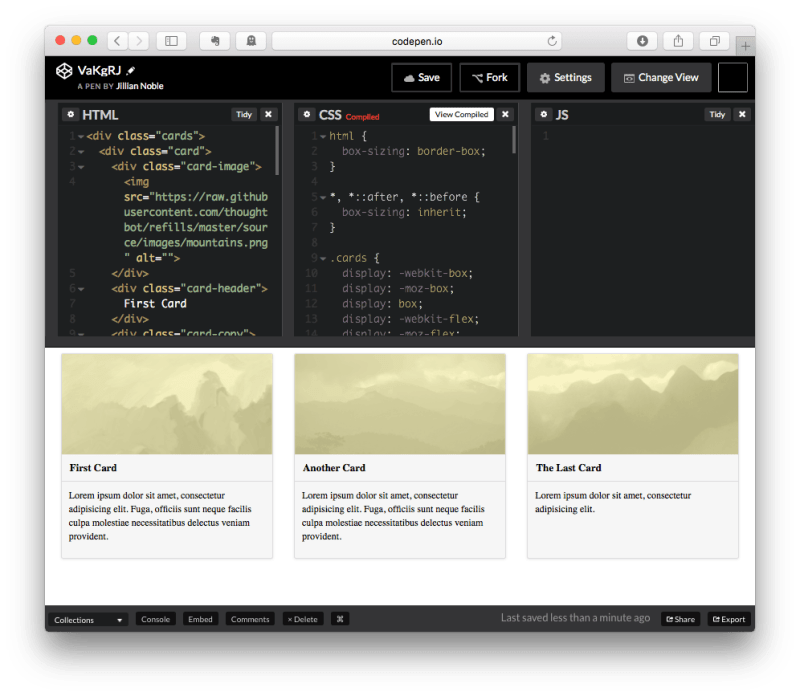 CodePen Compiled