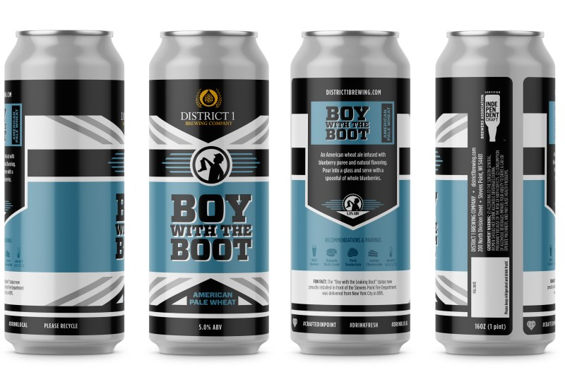 Product shot for Boy with the Boot Blueberry Wheat