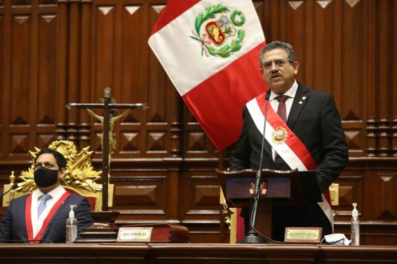 """Nuevo presidente Manuel Merino: """"la vacancia se produjo con votos que no  fueron comprados"""""""