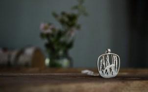 Silver deer pendant