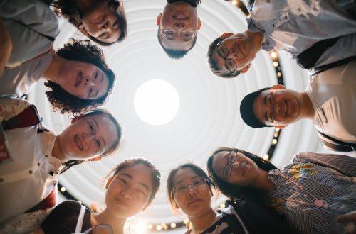 English Language Center Students in Circle