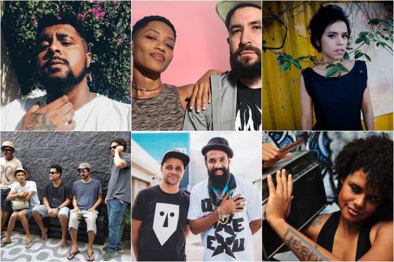 Singles Artistas Baianos Música Bahia Baco Exu do Blues Luedji Luna Baiana System