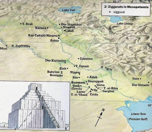 Mapa de zigurats