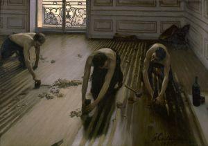 . 1875-Gustave Caillebotte-Les Raboteurs de parquet, 102 x 146,5cm. Musée d'Orsay, París