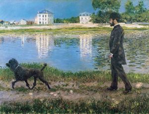 1884-c-gustave-caillebotte-richard-gallo-and-his-dog-at-petit-gennevilliers-89-x-116cm-private-collection