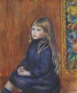 Renoir: Retrato de Edmond Renoir junior. 1889. Colección Nahmad.