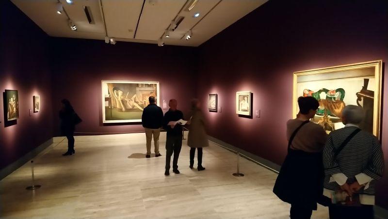 Sala de la exposición de Balthus en el Thyssen