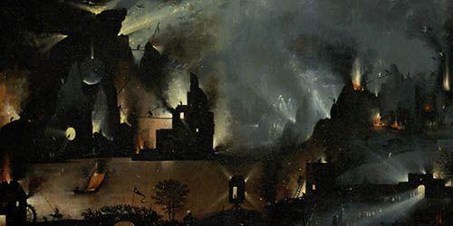 Detalle de El infierno de El Bosco