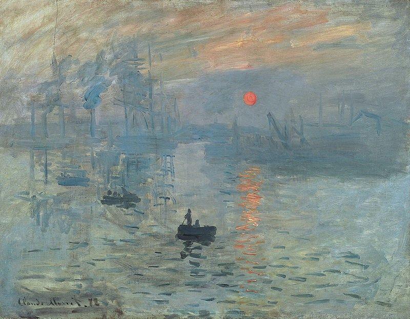 Esta es la obra que dio nombre al movimiento de los impresionistas