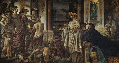 Otro ejemplo del banquete en la Antigua Grecia